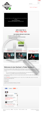 Joe Hachem Poker Academy preview. Click for more details