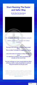 Jog Run Win - Running With Less Effort, More Speed, More Success preview. Click for more details