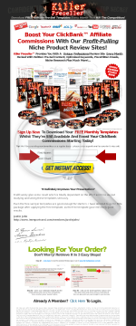 Killer Preseller! Hot New Presell Template Membership! preview. Click for more details