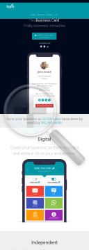 Kipin - The Digital Business Card preview. Click for more details