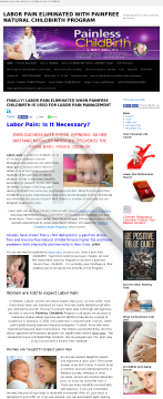 Labor Pain Eliminated With Painless Childbirth preview. Click for more details