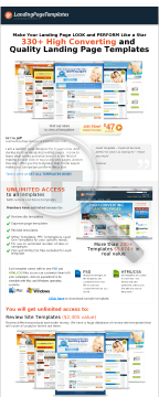 Landing Page Templates preview. Click for more details