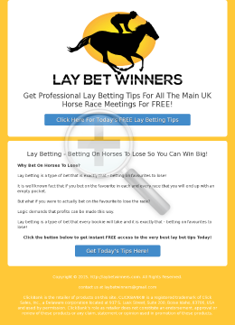 Lay Bet Winners preview. Click for more details
