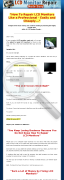 Lcd Monitor Repair Made Easy ~ New Hungry Niche preview. Click for more details