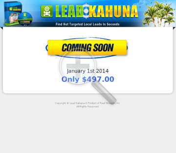 Lead Kahuna preview. Click for more details