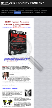 Learn Covert Hypnosis preview. Click for more details