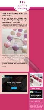 Learn How To Make Perfect Cake Pops preview. Click for more details