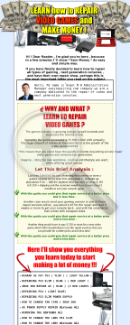 Learn How To Repair Video Games And Make Money! preview. Click for more details