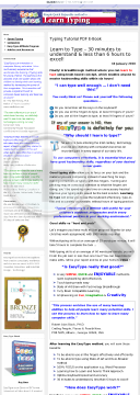 Learn To Type In 30 Minutes! preview. Click for more details