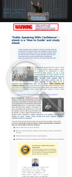 Learning Ebook Public Speaking With Confidence preview. Click for more details