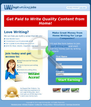 Legit Writing Jobs preview. Click for more details