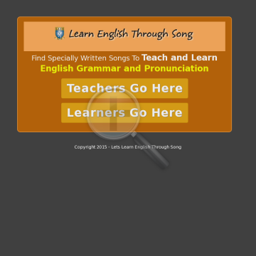 Lets Learn English Through Song. preview. Click for more details