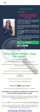 Life Master Class - Online preview. Click for more details