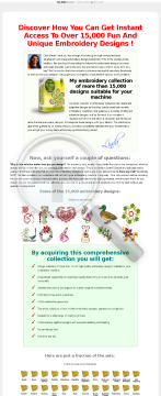 Linda's 15.000 Embroidery Designs preview. Click for more details