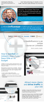 Linkedinfluence - The Ultimate Linkedin Training Course preview. Click for more details