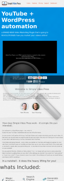 List-building / Automation Video & WordPress Software preview. Click for more details
