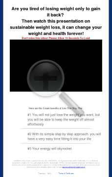 Live Thin Stay Thin - The Solution To Sustainable Weight Loss preview. Click for more details