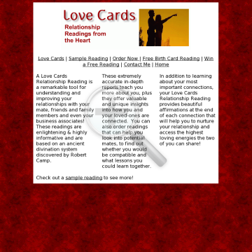 Love Cards Relationship Readings preview. Click for more details