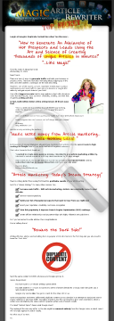 Magic Article Rewriter And Magic Article Submitter preview. Click for more details
