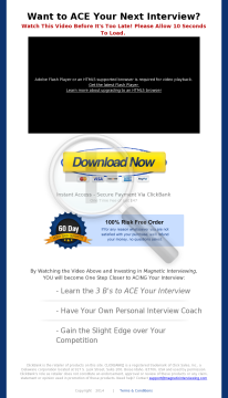 Magnetic Interviewing Strategy Guide - How To Ace Your Interview preview. Click for more details