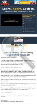 Make Money Online - Millionaire Training! Multi-media Training Course! preview. Click for more details