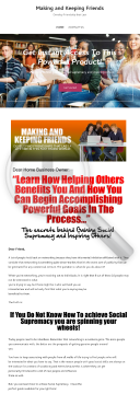 Making And Keeping Friends preview. Click for more details