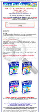 Making Math More Fun - Math Games Package preview. Click for more details