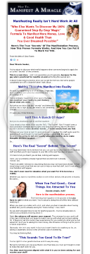 Manifest A Miracle - Law Of Attraction System preview. Click for more details