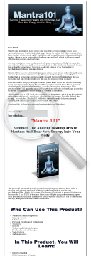 Mantra 101, Perfect Self-help Solution-best Money Making Niche preview. Click for more details