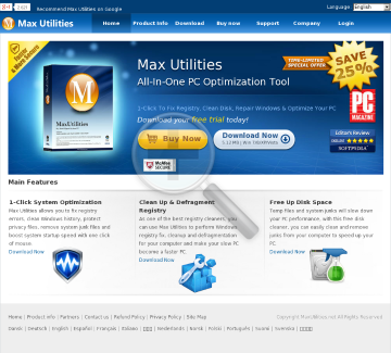 Max Utilities - All-in-one PC Optimization Tool preview. Click for more details