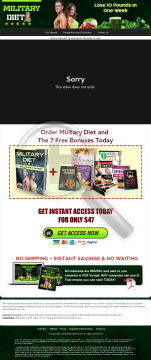 Military Diet - The Most Popular Diet Online Right Now! preview. Click for more details