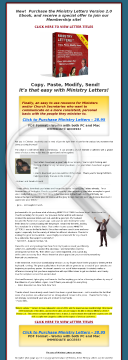 Ministry Letters For Pastors preview. Click for more details