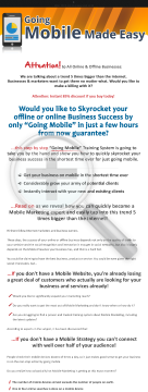 Mobile Marketing Made Easy For Businesses And Marketers preview. Click for more details