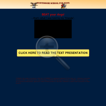 Montessori School 4 Dogs - New Training Method! Great Vsl! Easy Money! preview. Click for more details