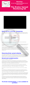 Mt4 Broker Spread Monitoring EA preview. Click for more details