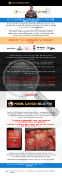 Music Career Blueprint preview. Click for more details