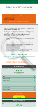 My Excel Power Online Courses preview. Click for more details