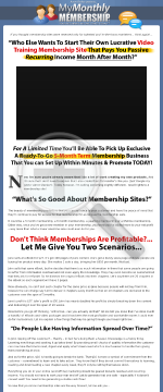 My Monthly Membership - 5 Month Fixed Term Turn-key Site! preview. Click for more details
