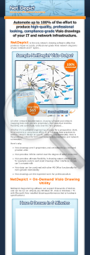 Netdepict - 100% Automated Visio Network Drawings preview. Click for more details