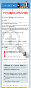 New Dog Obedience Training Guide preview. Click for more details