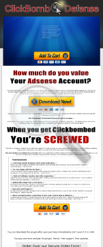 New: Google Adsense Clickbomb Defense WordPress Plugin 50% Commission! preview. Click for more details