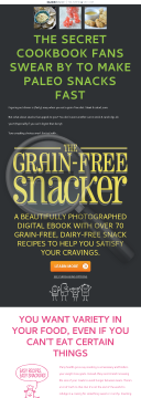 New Paleo Snack Cookbook - Paleo, Gluten-free, Dairy-free preview. Click for more details