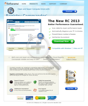 New! Registry Commander 2011 Edition By Softarama preview. Click for more details