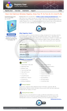 New* Registry Gear - Windows Registry Cleaner & Optimizer. preview. Click for more details