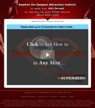 New! Unleash His Superhero - Ultimate Attraction System For Women preview. Click for more details