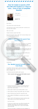 Newbie Launch Formula preview. Click for more details