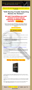 Niche Selection Secrets preview. Click for more details