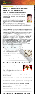 Numerology Diet - The Art And Science Of Spiritual Eating preview. Click for more details