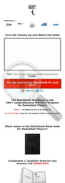 Nutritional Blackbook For Basketball Players preview. Click for more details
