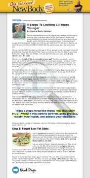 Old School New Body - Highest Converting Written Page On CB Market preview. Click for more details